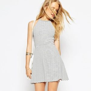 NWOT ASOS Halter Skater Dress